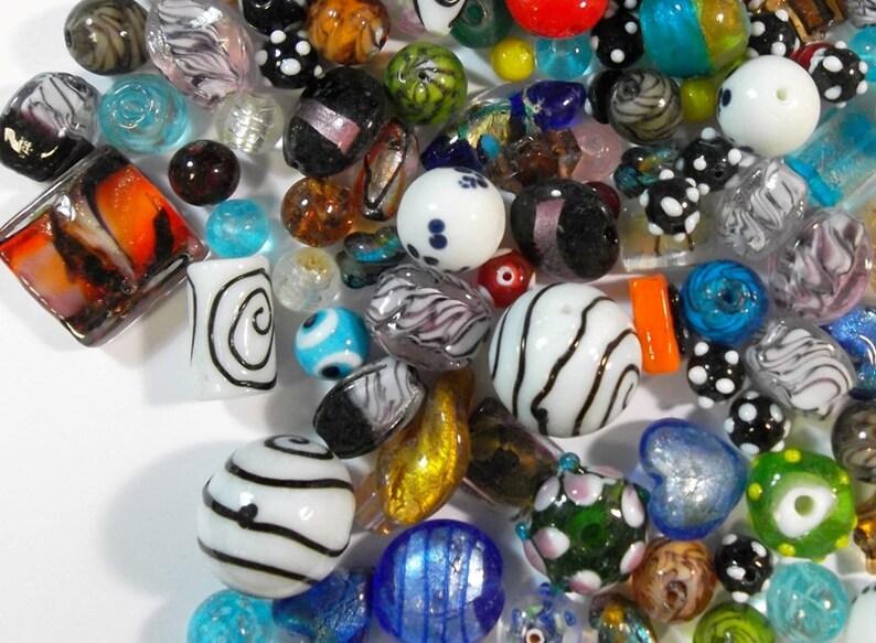 Glasperlen Silberfolie Mix Lampwork Schmuck Basteln Kg Gemischt Grosshandel R84
