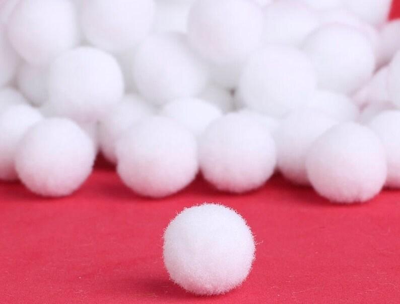 Pompons Pompon 20mm Weiß Bommel 25stk Nähen Tilda Basteln Borte Bälle Flauschigen Plüsch Bälle Für Lustige Kreative Handwerk