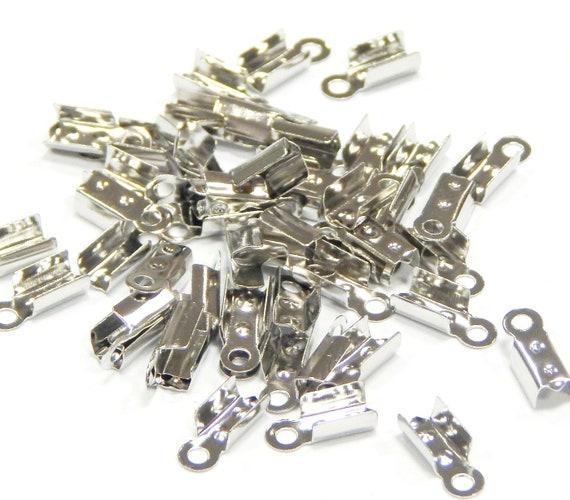 100 Endkappen Verschluss Endstück 6mm Silber