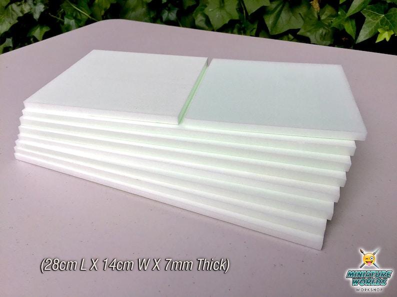 Small 7mm X 7mm X 18mm Wargaming High Density XPS Hobby Foam Bricks 300 Count