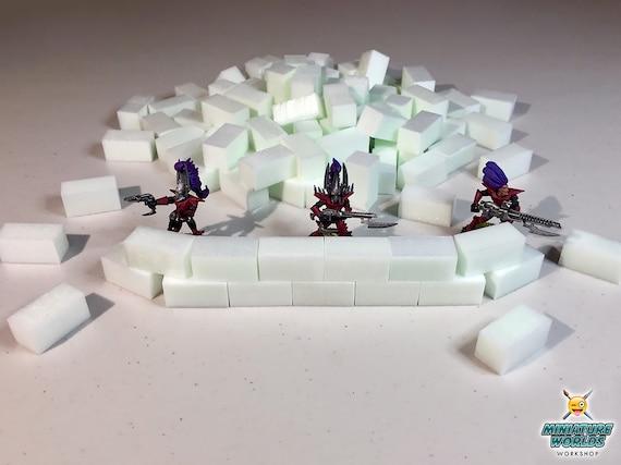 "High Density XPS Hobby Foam Bricks 100 Count Wargaming Large 1//2/"" X 1//2/"" X 1/"""