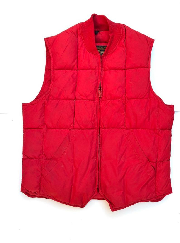 Vest Eddie Bauer Puffer Vest Goose Down Red size Men Small