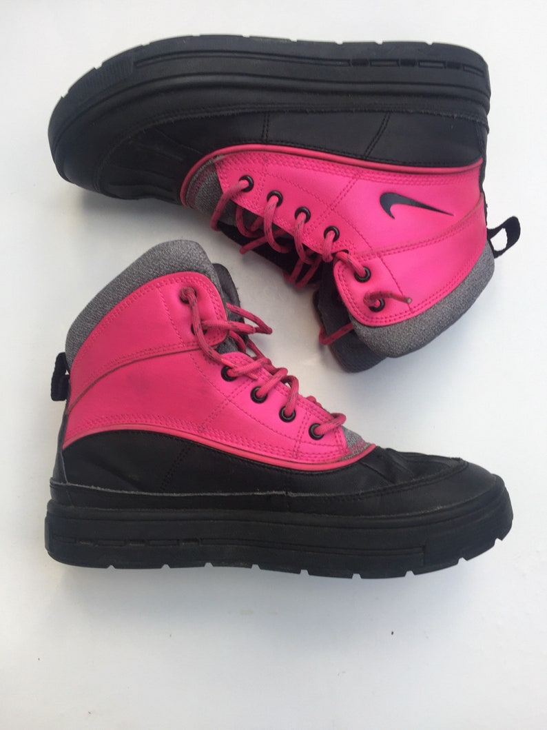 sports shoes ccbcc b48d8 Nike ACG boots kids youth hiking children pink black  Etsy