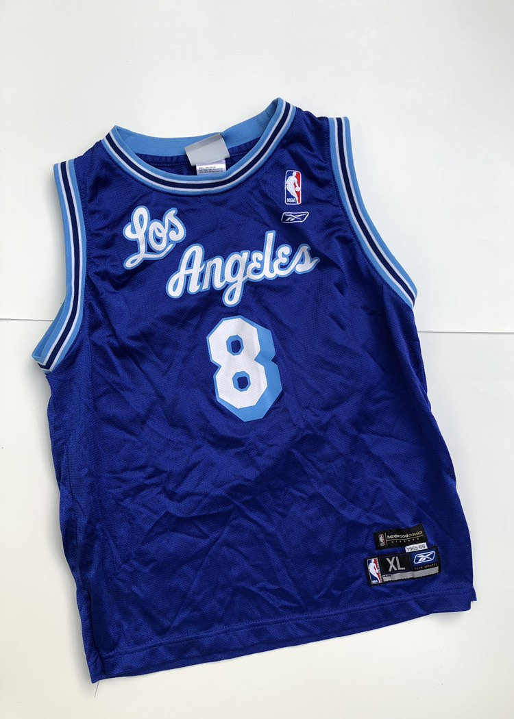Vintage Kobe Bryant Los Angeles Lakers Blue Jersey Size Youth ...