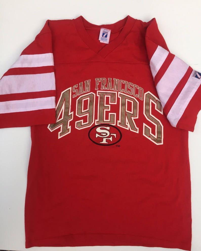1990s Vintage San Francisco 49ers NFL Baseball shirt tee shirt | Etsy