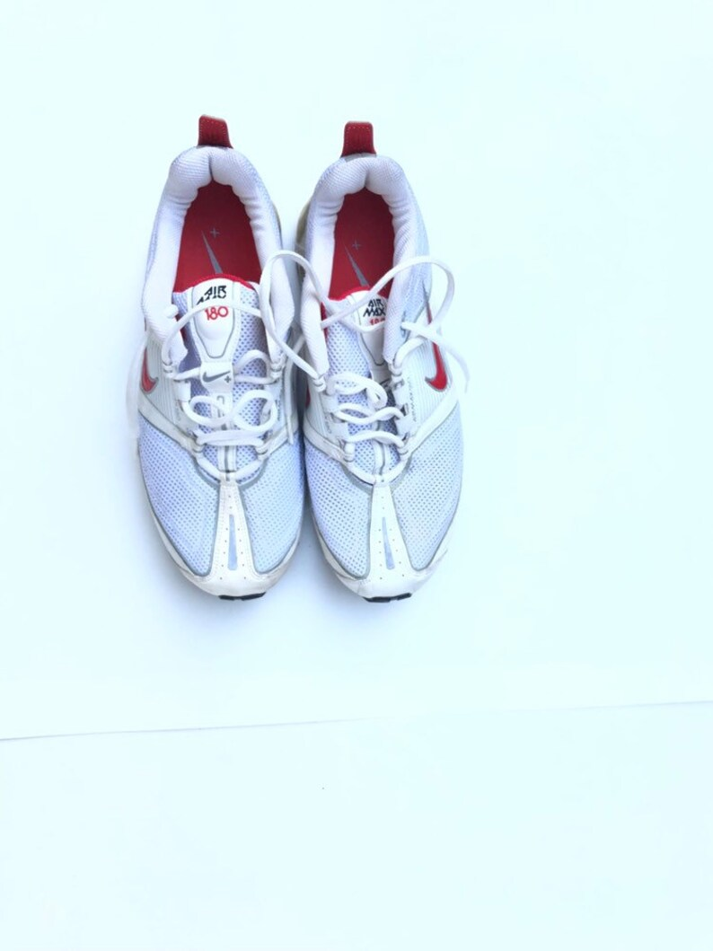 watch 4e07f 990c8 Nike Air Max 180 women sneakers shoes tie up size 10 red white   Etsy