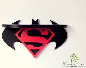 Batman Vs Superman Shelf For Baby Nursery Kids Room Wall Decorations Bedroom Comic Fans Treasure Decor Artwork