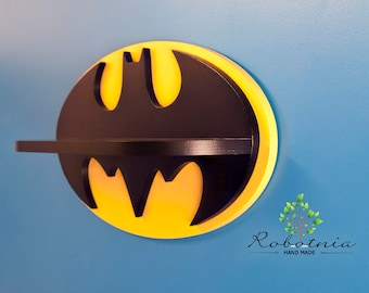 Batman Shelf For Baby Nursery Kids Room Wall Decorations Bedroom Comic Fans Treasure Decor