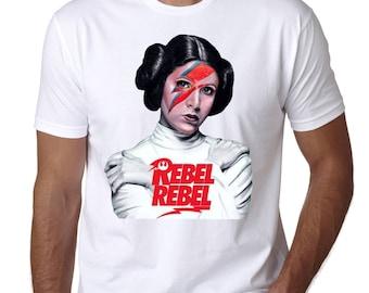 "Star Wars Prinzessin Leia ""Rebel Rebel"" Custom Tshirt"