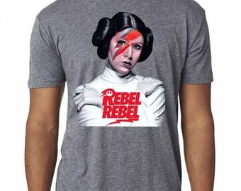 "Star Wars Princess Leia 'Rebel Rebel"" Custom Triblend tshirt"