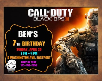 Call of duty invitation call of duty party invitation call call of duty invitation you print invitation call of duty birthday call of filmwisefo