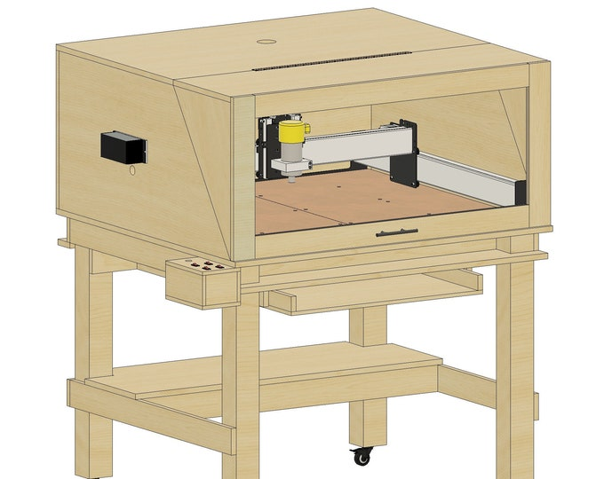 Plans for Shapeoko 3 XXL Enclosure and Control box - Instant Download