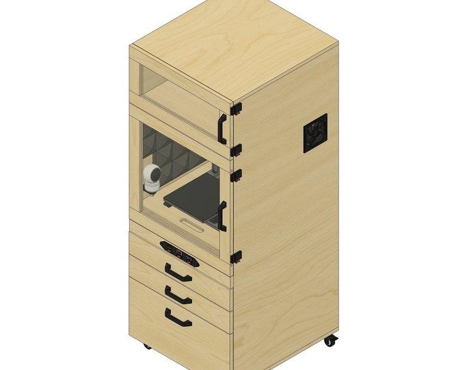 Plans for 3D Printer Enclosure Unit - Instant Download. Mobile Enclosure Unit for 3D Printer.