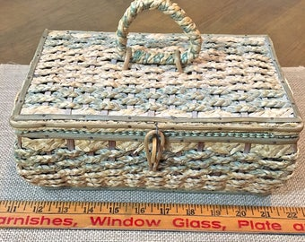 Small Vintage Sewing Basket or Box
