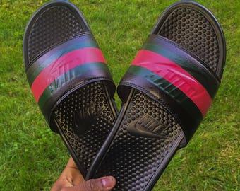 1068d8dc942 Custom (Gucci Inspired) Nike Flip Flops
