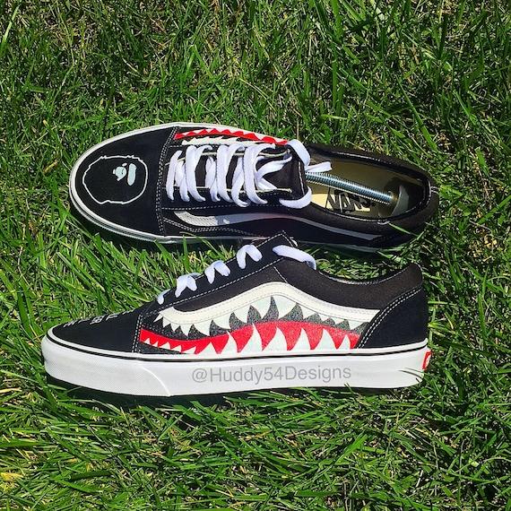 da02e87570b3 Shark Teeth Bape Vans