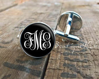 Monogram cufflinks, customisable cufflinks, cuff links, best man, groomsmen