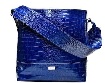 Blue leather bag  3bcb35dc0c63e