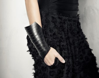 Black Leather Bracelet, Cuff Bracelet, Cuffs, Leather Jewelry, Bracelet For Mothers Day, Black Leather Cuff, Handmade Jewelry, Women Bracele