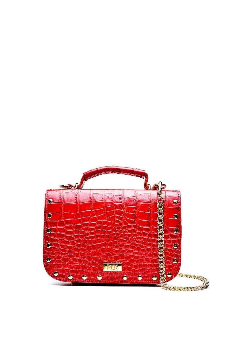 d7f23d550c Sacs de luxe femme sac en cuir rouge sac bandoulière sac | Etsy