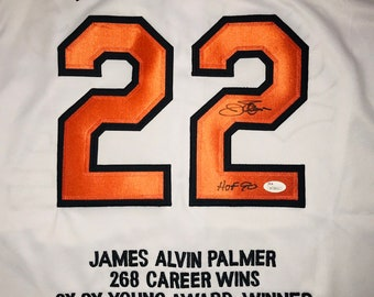 673bdeb48 Jim Palmer Hand Signed Autographed Baltimore Orioles Jersey