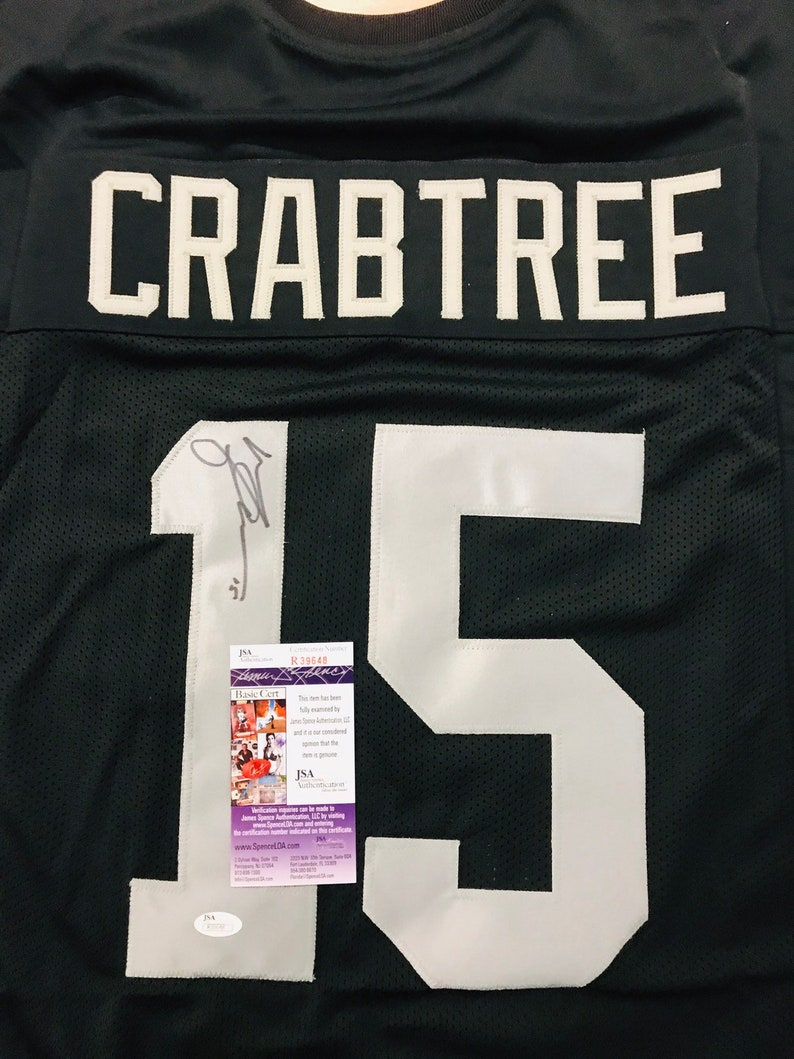 info for 657ad f3d0a Michael Crabtree Hand Signed Autographed Oakland Raiders Jersey