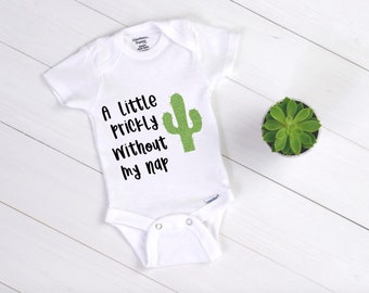 f775fc22b A Little Prickly Without My Nap / Baby Bodysuit / Cactus / Cactus Bodysuit