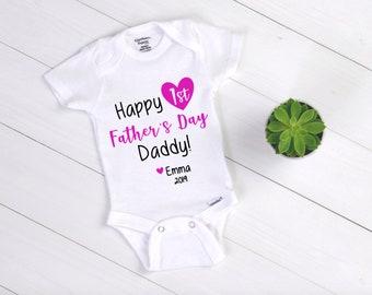 34f5c888 Unisex Father's Day Baby Bodysuit / First Father's Day / Baby to Father  Gift / Father's Day Gift / Baby Boy Onesie / Baby Girl Onesie