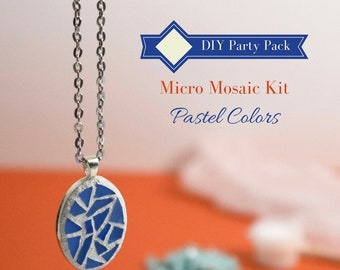 Craft kits teens etsy studio do it yourself jewelry making kit diy gift for teens glass mosaic necklace back to school party diy kit 8 pack jewelry mosaics diy gift solutioingenieria Gallery