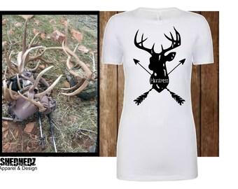 ab106f3610493 Huntress Tee, Shedhunting Shirt, Hunting Shirt, Ladies Hunting Shirt, Ladies  Buck Shirt, Deer Shirt, Outdoor Ladies T-shirt, Camping Tee,