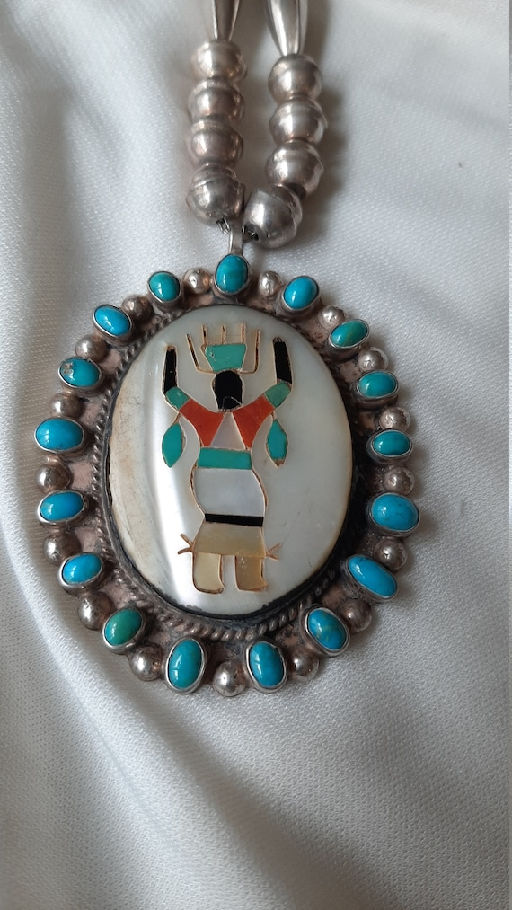 Tim kee whitman vintage native american necklace.