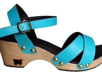 22e726b89 C2(No3) - Wooden Wedge Sandal Clog   Leather Free Customisation Handmade  Swedish Clog custom Holzclogs Holzschuhe manufaktur slippers