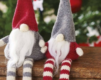 christmas gnomes jultomten crochet pattern instant download christmas crochet gift xmas gnome simply crochet project hannah cross