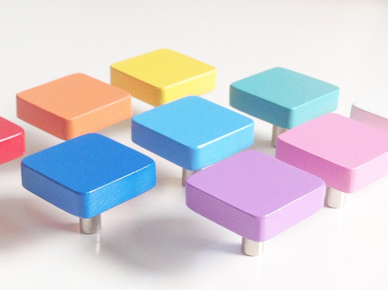 möbelknopf eckig möbelgriffe möbelköpfe für kinderzimmer | etsy