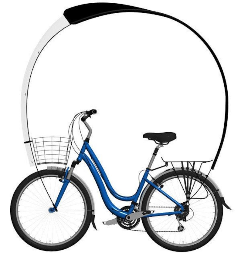 Kaps the aerodynamic umbrella to install on your bike Classique