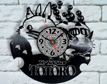 Totoro nursery decor Wall Clock Totoro Art Totoro wedding gift Totoro nursery bedding studio ghibli my neighbor totoro costume cosplay