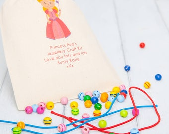 Jewellery Craft Kit And Personalised Gift Bag