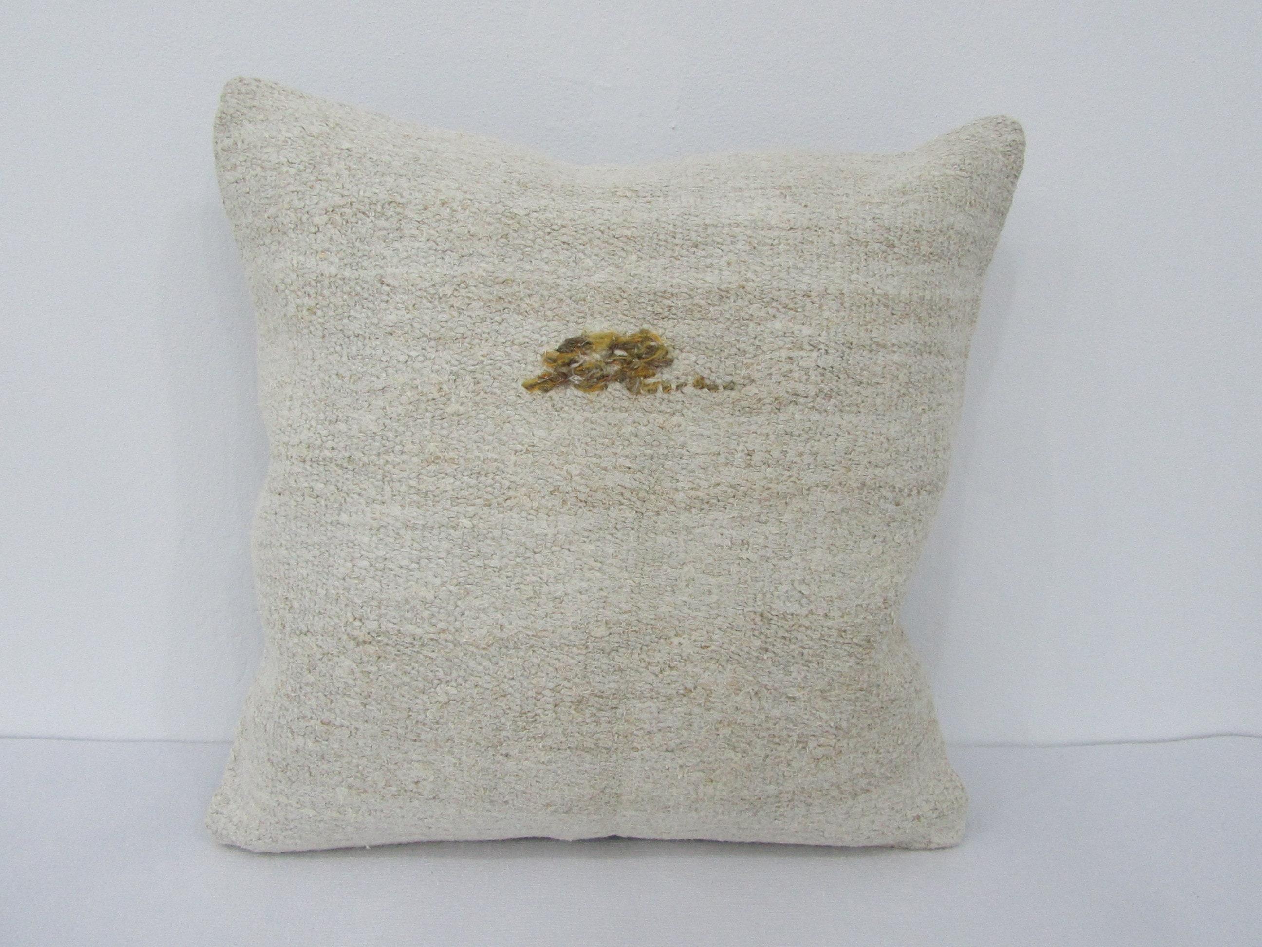 Sofa Pillow Cover 30x50 Cm Vintage Pillow Cover, Lumbar Pillow Cover 12x20 \u0130nches Handmade Pillow Cover White Hemp Pillow Cover