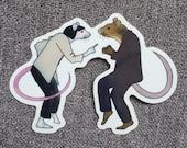 Rats Pulp Fiction Twist Dance Sticker