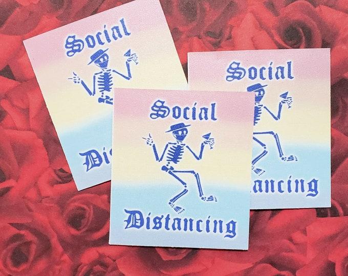 Social D Sticker   Social Distortion/Distancing