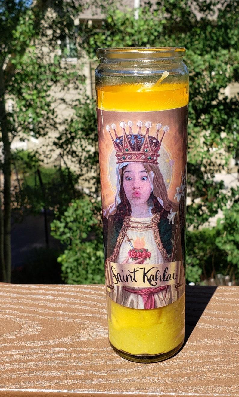 Customized Prayer Candle Be A Saint | Etsy