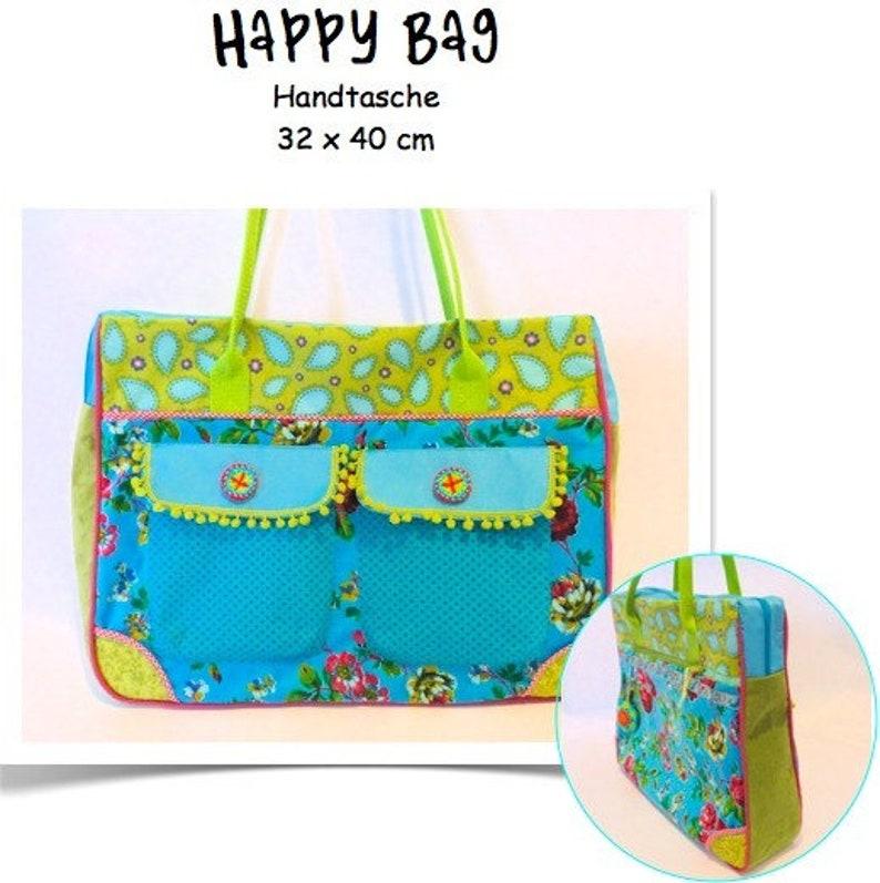 Instructions Shoulder bag happy bag in mix image 1