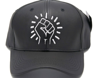 Fist leather dad hat