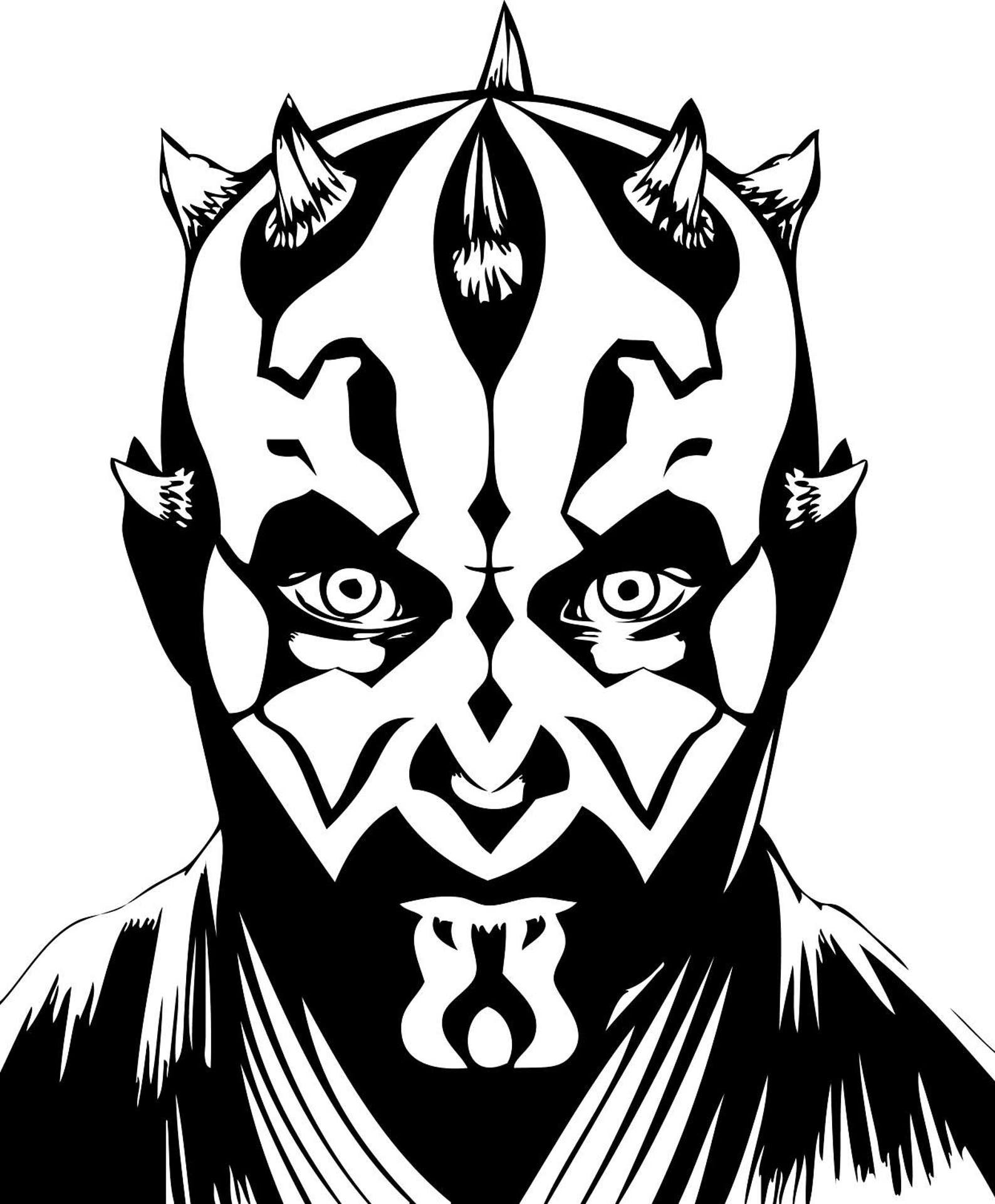 darth maul coloring pages - HD1588×1921