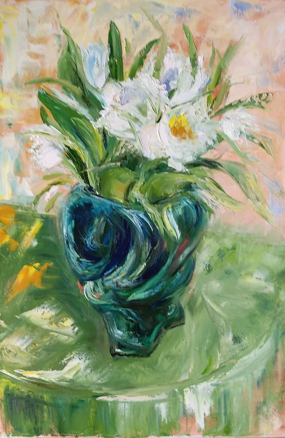 Oil Pastel Flower Vase Drawing Images With Colour