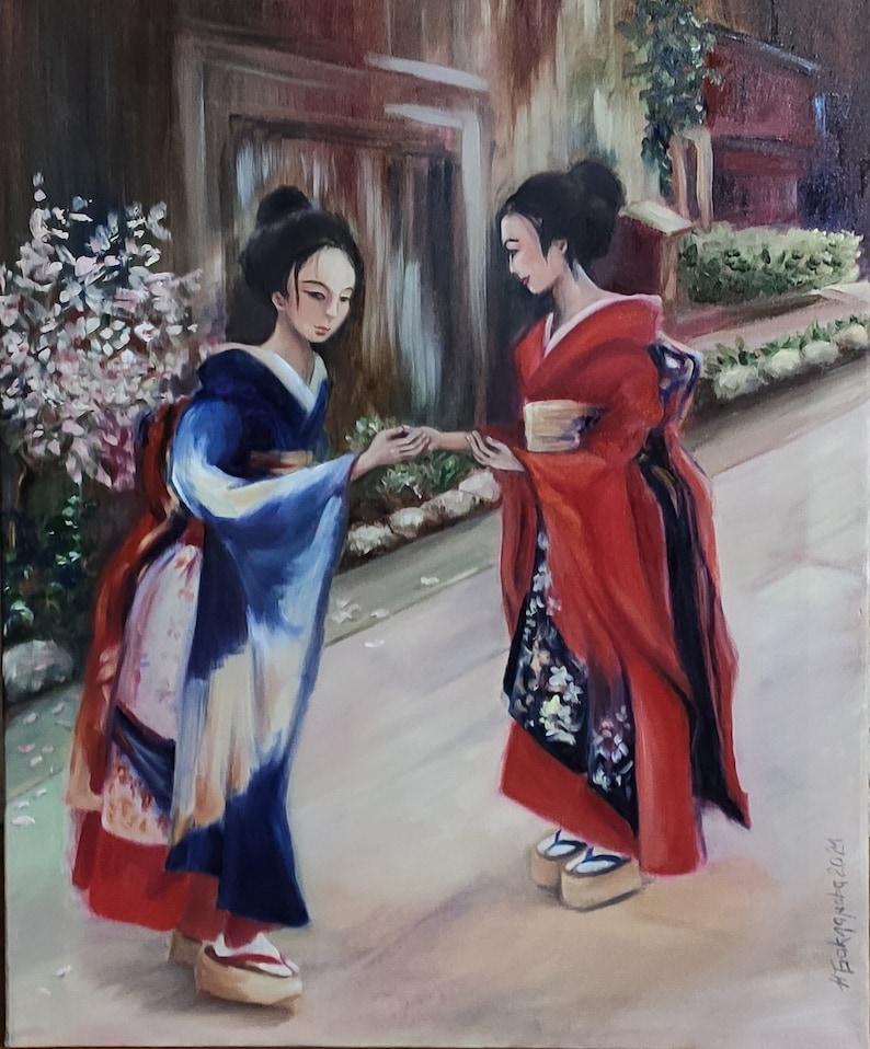 When the Sakura blooms Japanese Girls on the street Original image 0