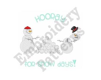 Snowball Fight - Machine Embroidery Design