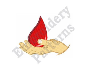 Blood Donor - Machine Embroidery Design