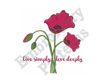 Live Simply Love Deeply - Machine Embroidery Design