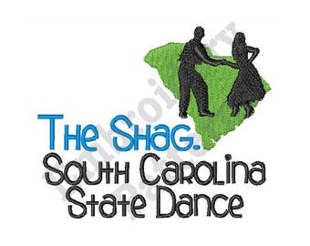 The Shag South Carolina State Dance - Machine Embroidery Design